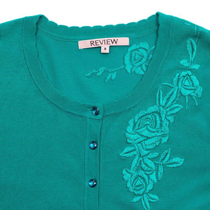 Ella Floral Car | Tropical Green | Cardigan