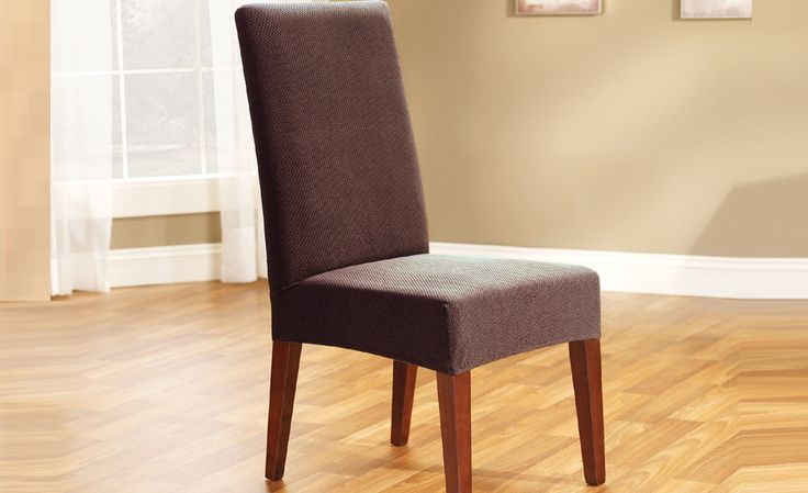 Coffee Pearson Dining Chair Cover by Sure Fit