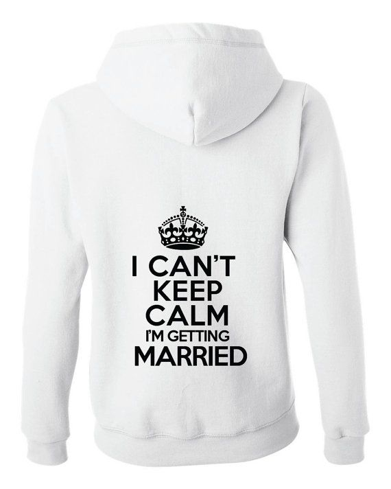 I can't keep calm i'm getting married full-zip by BridesmaidTank
