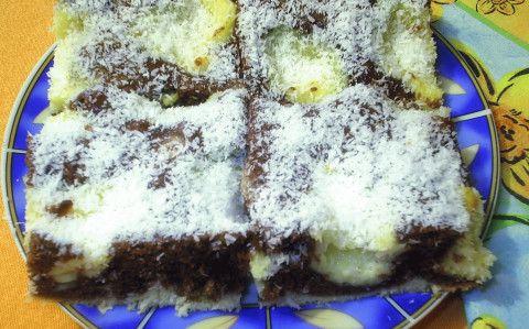 Kakaós-kókuszos kevert sütemény