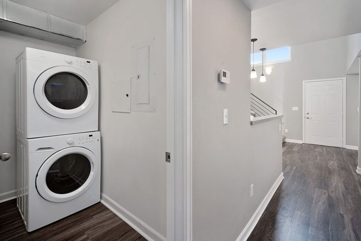 For your convenience we offer inunit washers and dryers