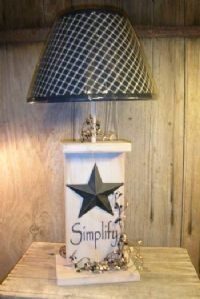 """Simplify"" Wood Primitive Table Lamps"