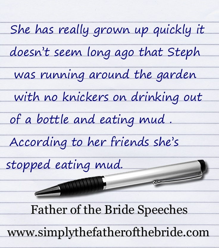 9 Best Father Of The Bride Speech Images On Pinterest