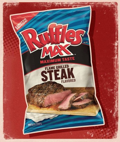 unusual      potato  chips | Steak-Flavored Ruffles Potato Chips