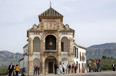 La capilla-tribuna de la Virgen del Socorro goza de una gran calidad estética