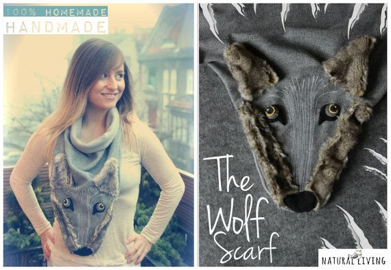 WOLF SCARF one of a kind!