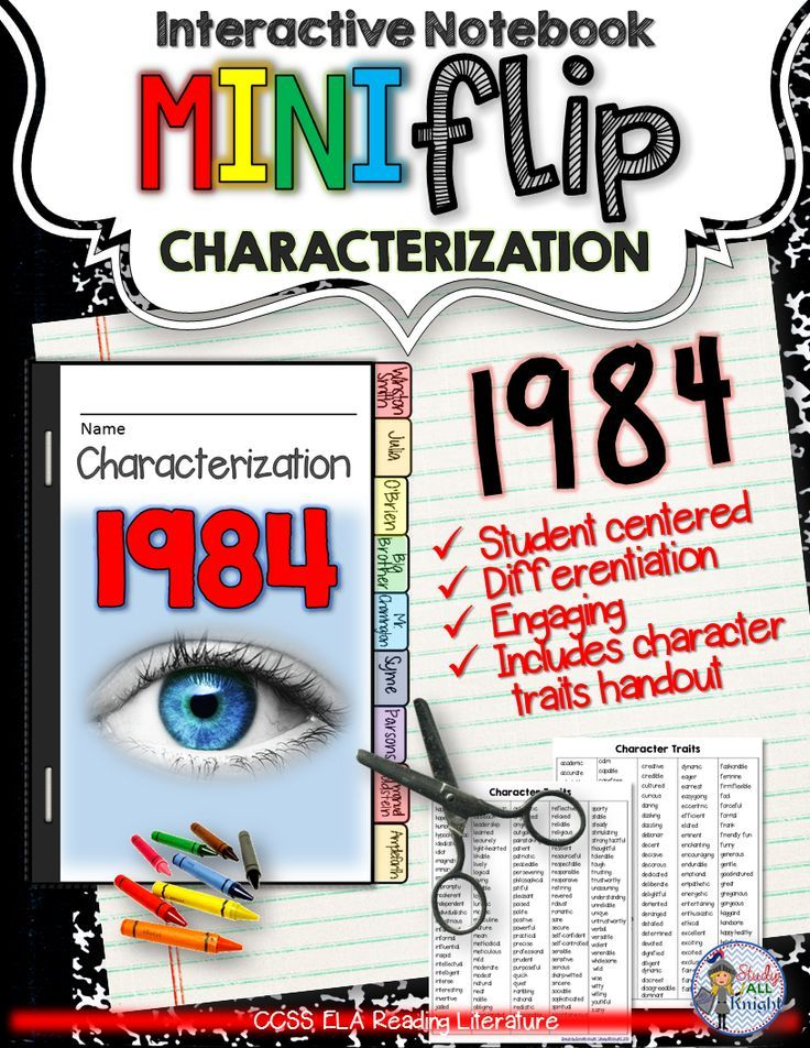 1984: Interactive Notebook Characterization Mini Flip ($)