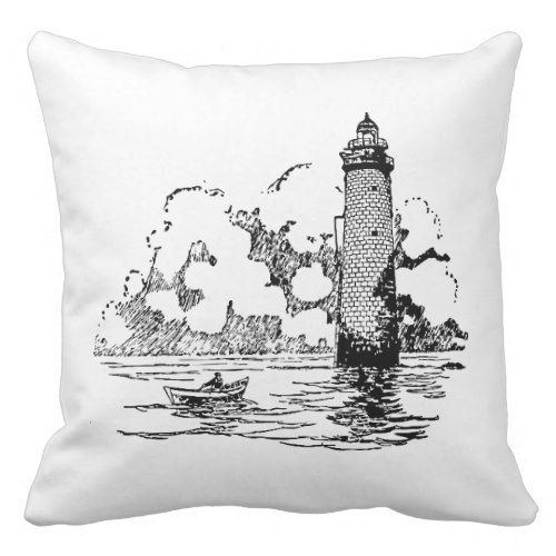 Decorative Throw Pillows – Nautical Throw Pillows Decorative nautical throw pillows allow you to revive and breathe new life into your home. They provide you with a means of adding a bit of color and comfort to complement a couch or chair Lighthouse Throw Pillow
