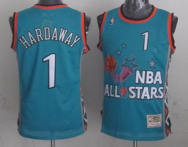 3bb14d2a68d ... Soul Swingman Throwback Jersey Mitchell And Ness Magic Anfernee Hardaway  Light Blue 1996 All Star Stitched NBA Jersey ...