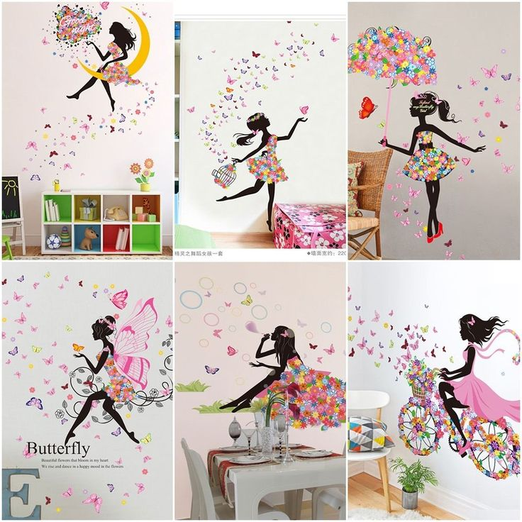 Cute DIY Lovely Girl Art Wall Stickers For Kids Rooms PVC Wall Decals Home Decor | Home & Garden, Home Décor, Decals, Stickers & Vinyl Art | eBay!