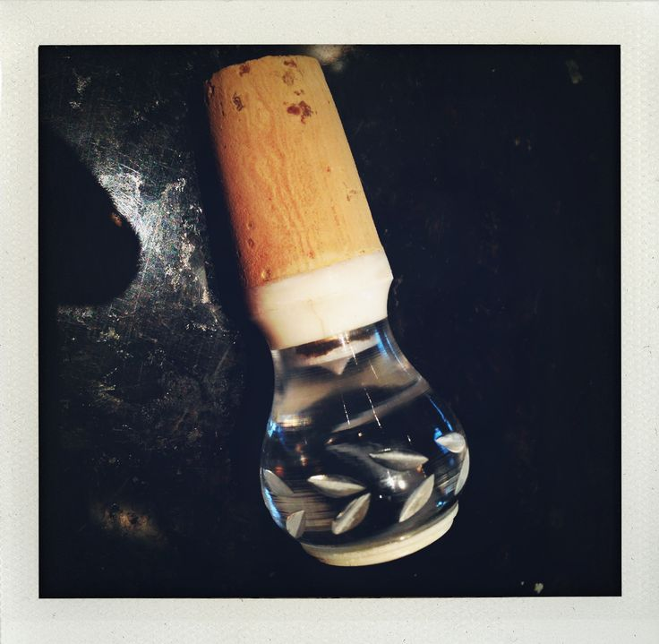 Wine stopper from cork and cabinet knob
