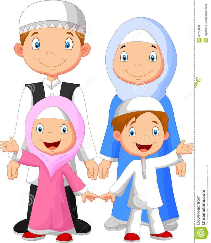 Gambar Kartun Anak Muslim Vector   Kartun, Animasi, Gambar ...