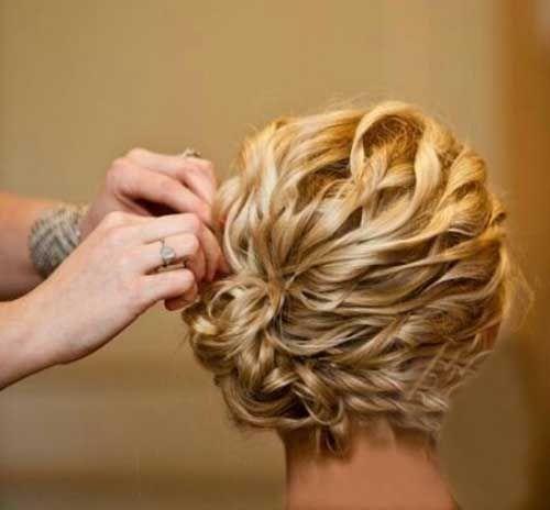 15 Einfache Kurzes Haar Hochsteckfrisuren