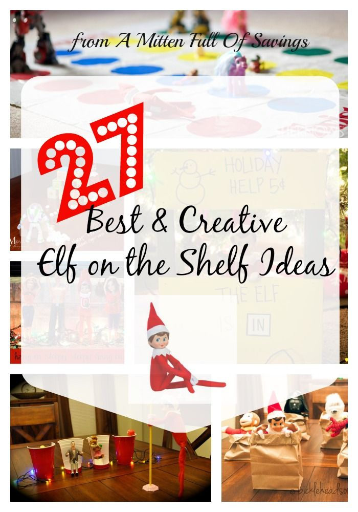 Get ready for the crazy mayhem of Elf on the Shelf! Here's some of the top and creative ideas around the net!  #elfontheshelfideas