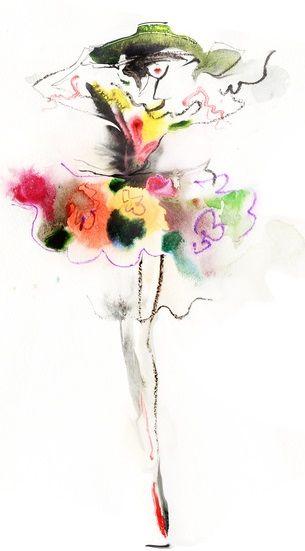 woman fashion Art Print by Tatiana-teni