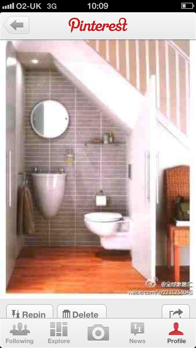 For the small downstairs toilet