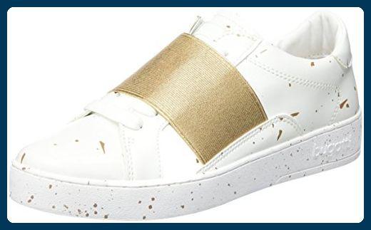 Bugatti Damen J7606PR6N Sneakers, Weiß (Weiss / Gold 235), 38 EU - Sneakers für frauen (*Partner-Link)