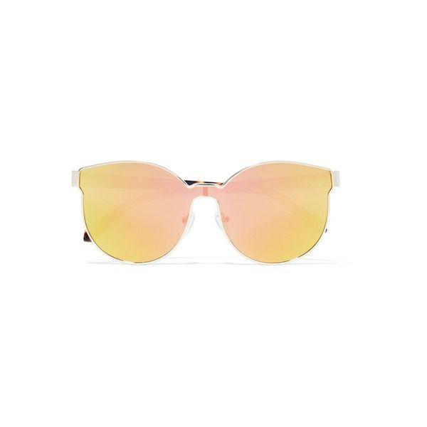 Karen Walker - Star Sailor Verspiegelte Sonnenbrille Mit Goldfarbenem Rundem Rahmen Und Details Aus Azetat - Gelb