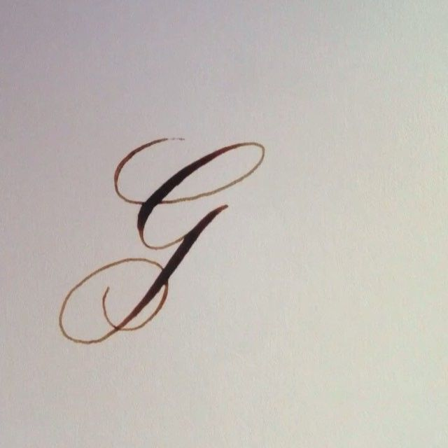 "65 Likes, 2 Comments - Kelly Songer (@scriberecalligraphy) on Instagram: ""Today's letter for the Letter Archive is G! It's hard to post work that I know has many flaws, but…"""