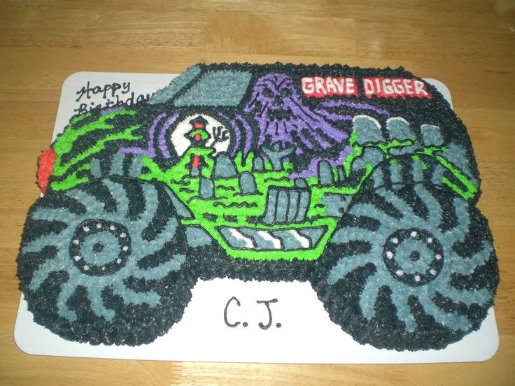 Grave Digger Cake By Kizer Cakes Decorating Ideas 23 cakepins.com