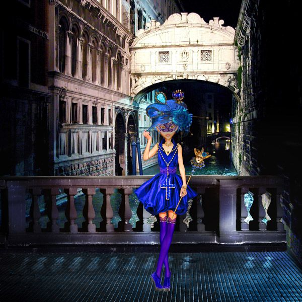 Used Midnight Blue Artdolls by Xquizart. Available here; http://www.mischiefcircus.com/shop/product.php?productid=22699&cat=0&page=1 Used Eena's Creations Greetings from Venice. Available here; http://www.mischiefcircus.com/shop/product.php?productid=19668&cat=0&page=1