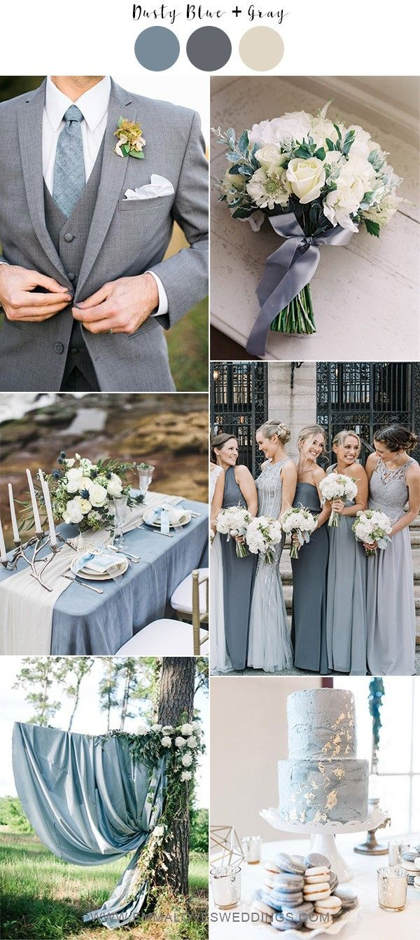 7 Gorgeous Dusty Blue Wedding Color Ideas For 2021 Brides Emmalovesweddings Neutral Wedding Colors Grey Wedding Theme Gray Wedding Colors