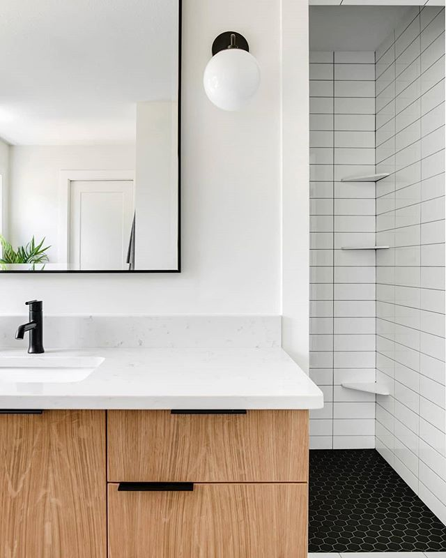 Black White Wood Triple Threat Design In 2020 Bathroom Trends Bathroom Tile Designs The Tile Shop