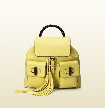 Gucci - Rucksack Bamboo aus Leder 370833A7M0N7209