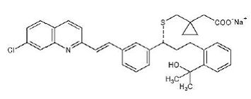 SINGULAIR® (montelukast sodium) Structural Formula Illustration