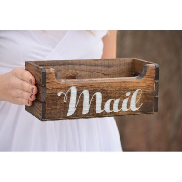 Personalized Handcrafted Wooden Mail Crate Holder Zazzlecom