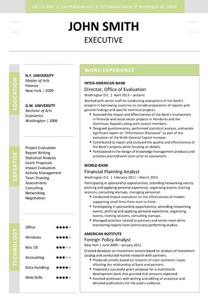 9 best Executive Resume Template images on Pinterest Cv resume - top rated resume builder