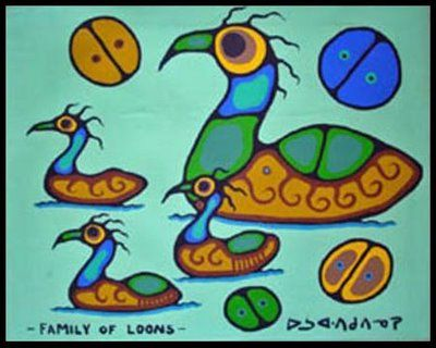 Family of Loons - Norval Morriseau | An amazing Anishinabe artist