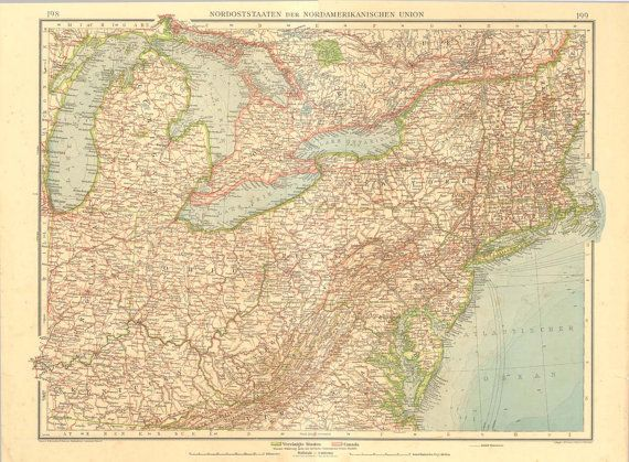 Best MiND MaP Images On Pinterest Vintage Maps Old Maps And - Us map 1922