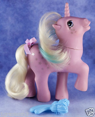 Vintage My Little Pony G1 Milky Way Twice As Fancy Ponies 1986-87 With Brush $21.99