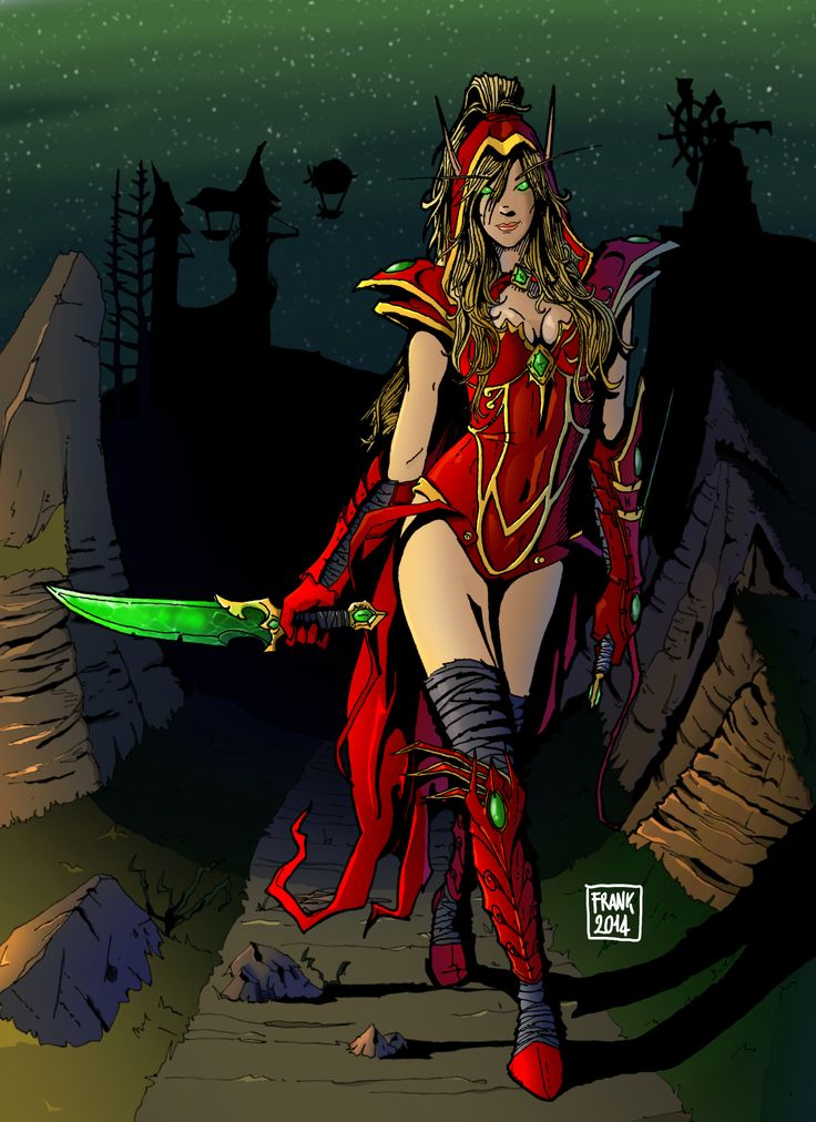 Valeera Sanguinar from Warcraft Universe - Comic book mood