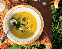 Yellow Beet Borscht - This recipe is double what you will need as it keeps well in the refrigerator for five days and freezes well, too. The sun-like yellow colour looks like summer has arrived