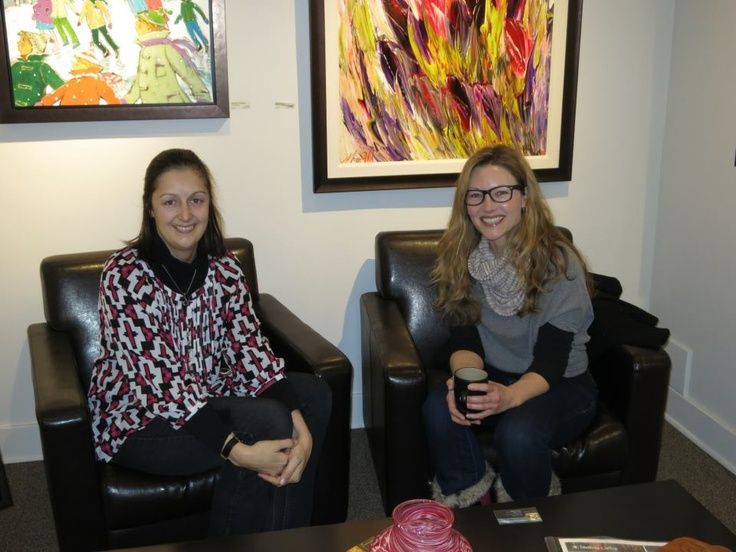 Two very talented and beautiful young Canadian artists! Virginie Schroeder (left) and Melissa Jean (right) met for the first time a couple weeks ago in the gallery. Although their creative approaches and inspiration are different they have so much in common... they are so very passionate about art & creating! You can see their work on the gallery website http://www.woodlandsgallery.com/dynamic/artist_list.asp