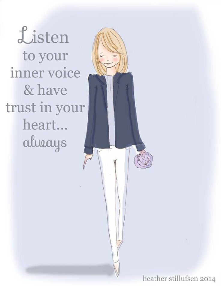 Listen to your inner voice & have trust in your heart... always  - Rose Hill Designs: Heather Stillufsen