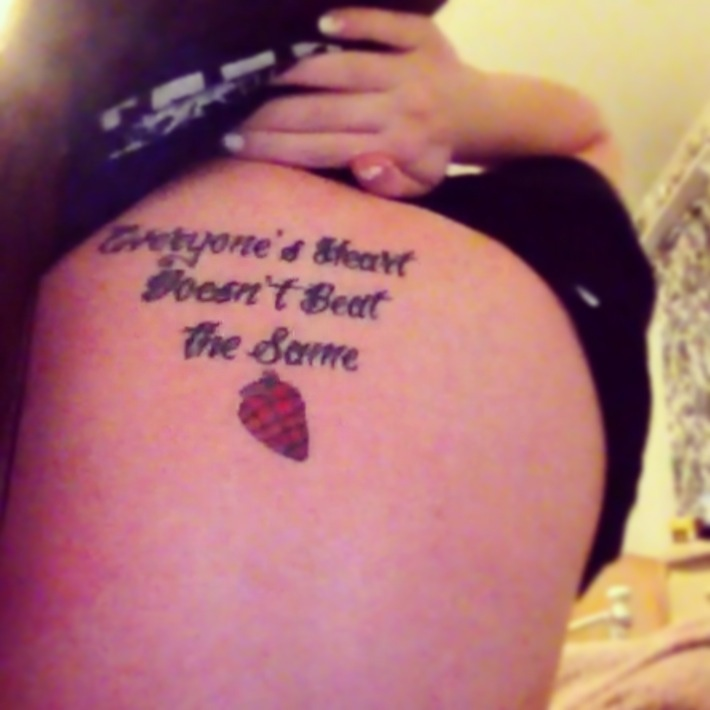 """Tattoo Quotes Heart: Green Day Quote """"Everyone's Heart Doesn't Beat The Same"""