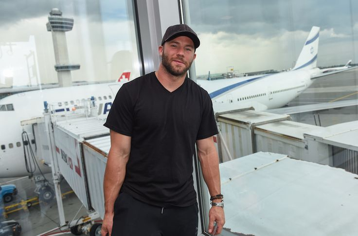 Julian Edelman will fly on El Al's new service from Tel Aviv to Boston's Logan International Airport. (Shahar Azran)