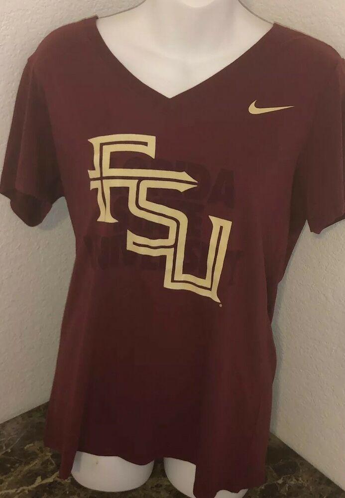 3424ab47 The Nike Tee Florida State Women's Size XL Athletic Cut Red FSU Slim Fit    eBay