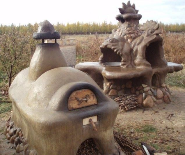 Cob ovens from Anastasian spiritual permaculture settlement in Issyk-Kul, Kyrgyzstan.