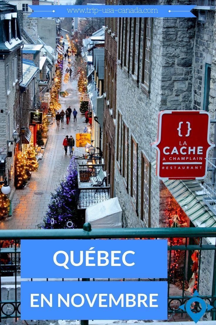 QUOI FAIRE A QUEBEC EN NOVEMBRE http://www.trip-usa-canada.com/quoi-faire-a-quebec-en-novembre/