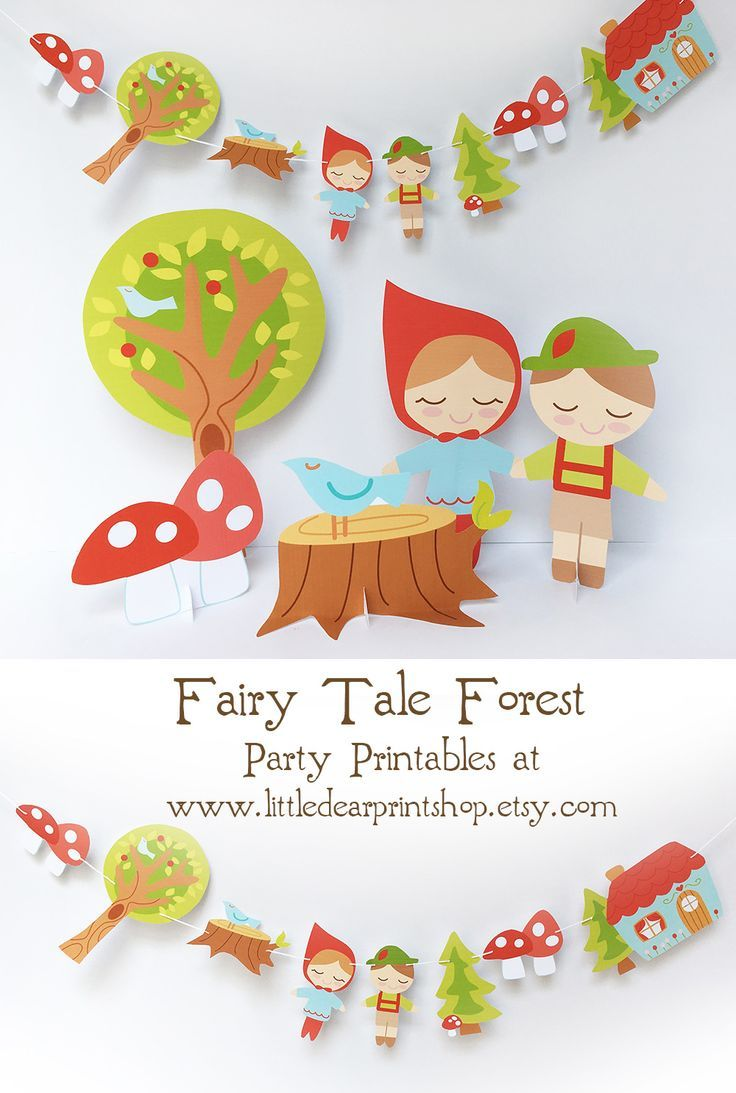 picture regarding Printable Fairy Tales Pdf called Printable Woodland Fairy Story Social gathering Decorations PDF for