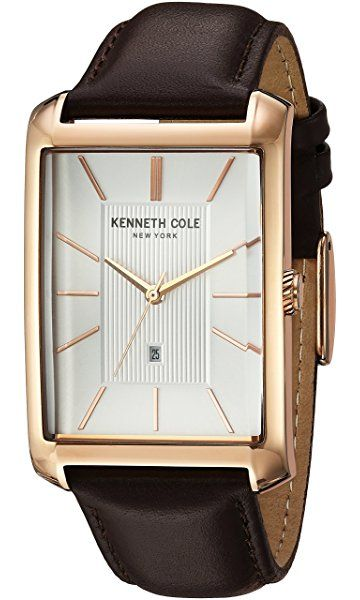 8850f0322d7 Kenneth Cole New York Men s  Classic  Quartz Stainless Steel and Leather  Dress Watch