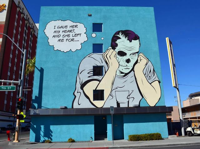 Street Art By D*Face For Life Is Beautiful Festival On The Streets Of Las Vegas