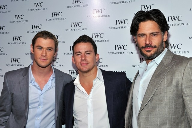 Chris Hemsworth, Channing Tatum and Joe Manganiello