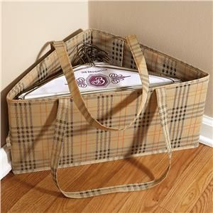 Lillian Vernon Spare Closet Hanger Bins --- To DIY this, just find a square box big enough to hold the hangers and divide it down the diagonal with a piece of cardboard so it stays organized even when the stacks are uneven.