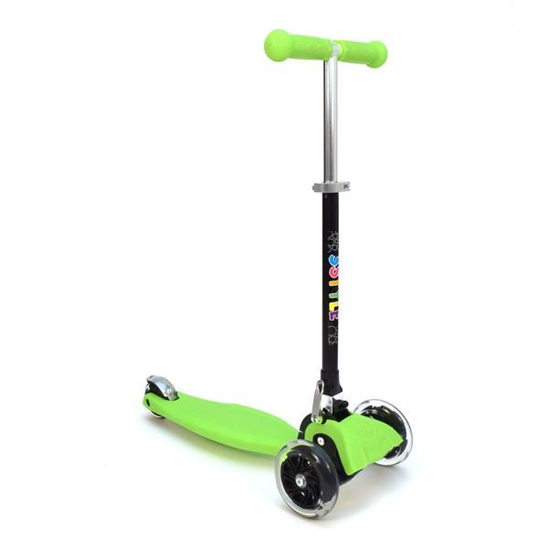 RGS-1 3 Wheel Green Kick Scooter with LED Lights in Wheels | 3Style Scooters