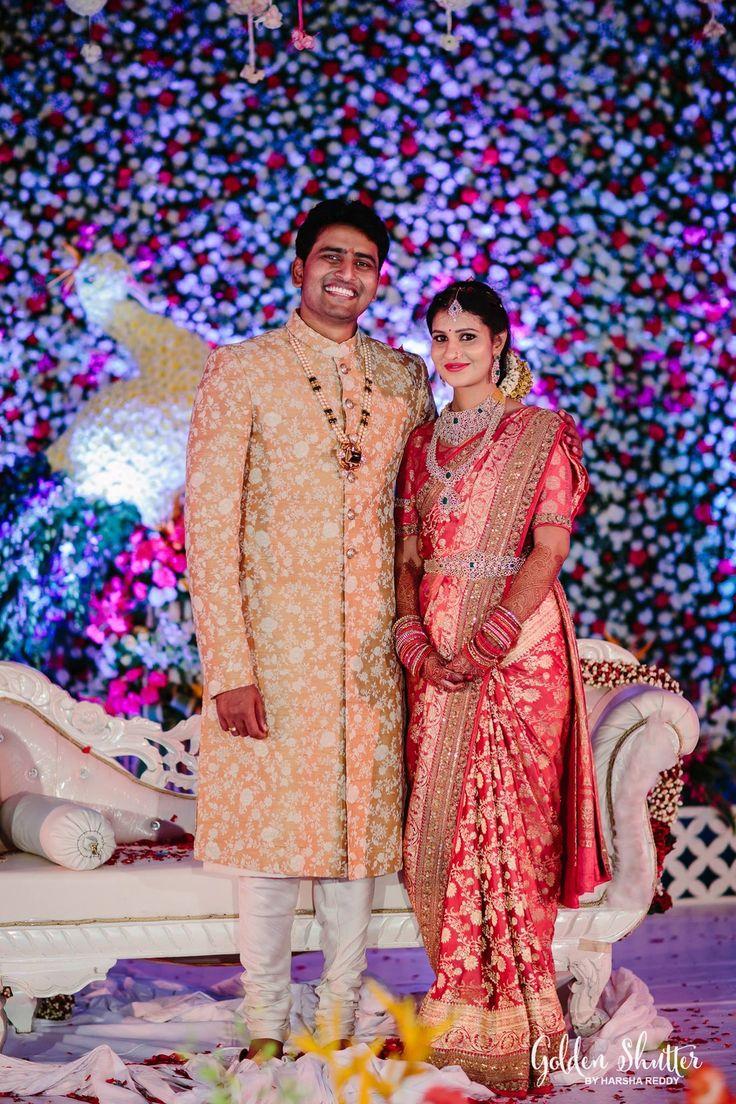 Telugu bride and groom
